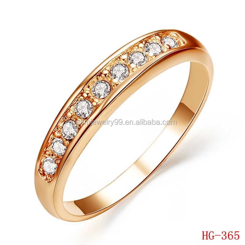 SALE Rose Gold Plated TOP Class 9 pcs Rhinestones Studded Promise Wedding Rings