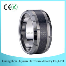Gift ,Holiday,Band Double Grooved &High Polished 8mm Tungsten Carbide Ring For Men