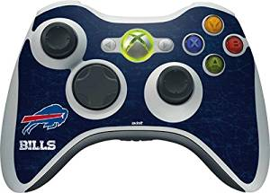 NFL Buffalo Bills Xbox 360 Wireless Controller Skin - Buffalo Bills Distressed Vinyl Decal Skin For Your Xbox 360 Wireless Controller