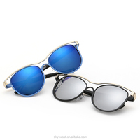 2016 Latest UV400 polarized fashion design top quality metal sunglasses(SWTAA2253)