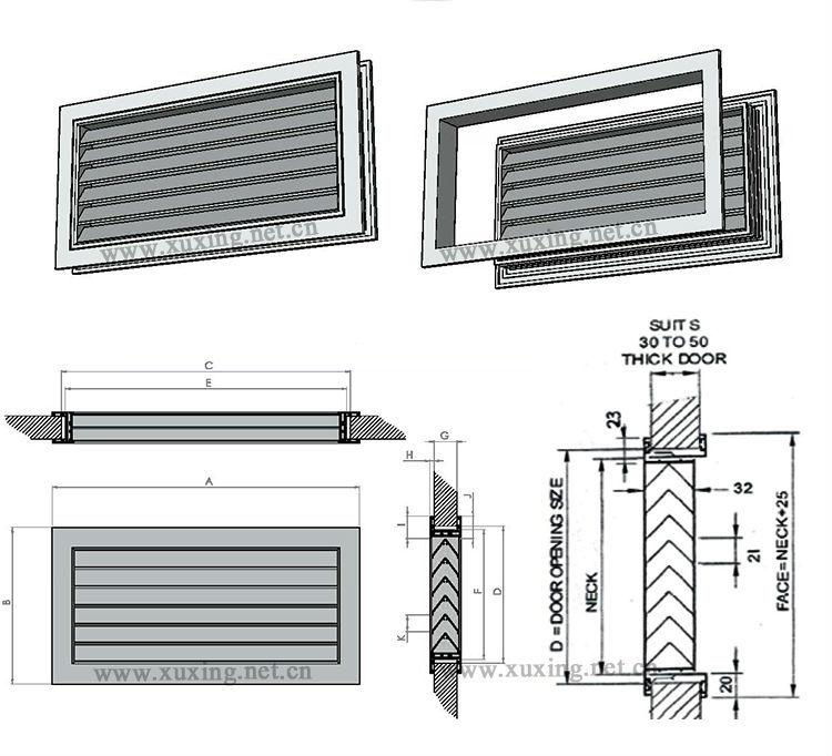 V Type Bathroom Ventilation Grille Door Grille Air Vent For Wooden Door Buy Air Vent Grills