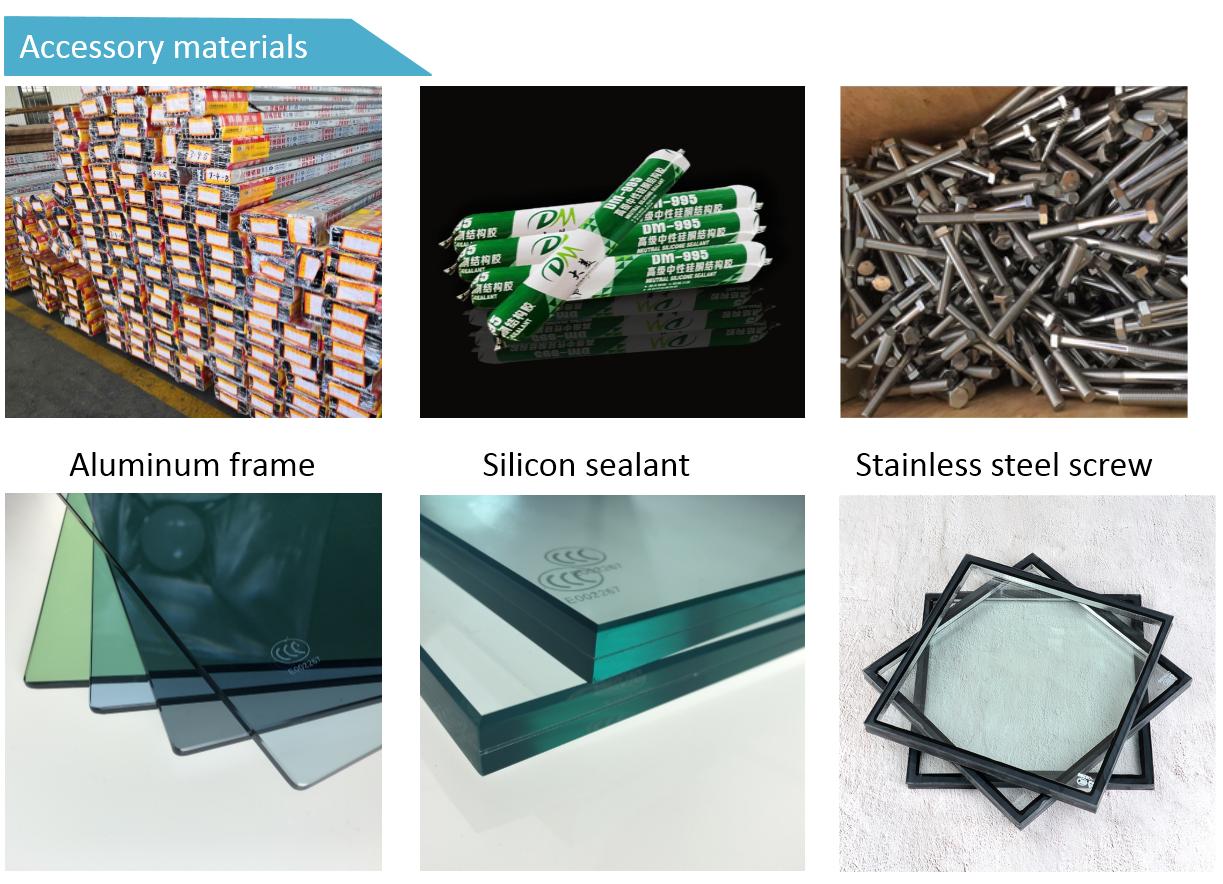 Di alta qualità doppi vetri vetro di alluminio della parete divisoria prezzo