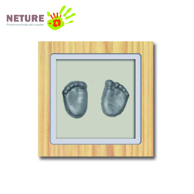 Eco-Friendly Baby Footprint Handprint Keepsake Frame 3D Casting Kit Deluxe Baby 3D Print Kit Baby Gift Set