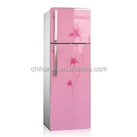 china factory BCD-215 double glass door refrigerator high quality