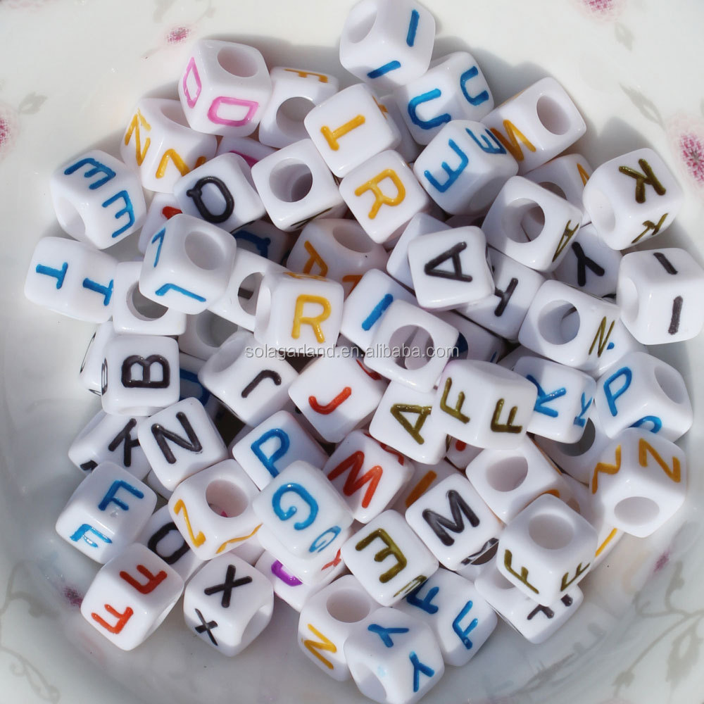 1620 Pieces A-Z Letter Beads 7x4mm Sorted Alphabet Beads and Black Acrylic Letter Bead kit Vowel Letter Beads for Jewellery Making Kids/&Crafts/&Name Bracelets