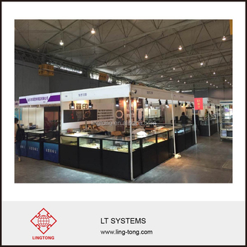 Exhibition Stand Reception Desk : Glass and aluminium frame standing reception desk for exhibition