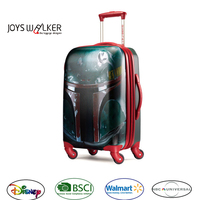 Emboss wars new product Kids trolley school bag/ four wheels travel suitcase for kids designer luggage