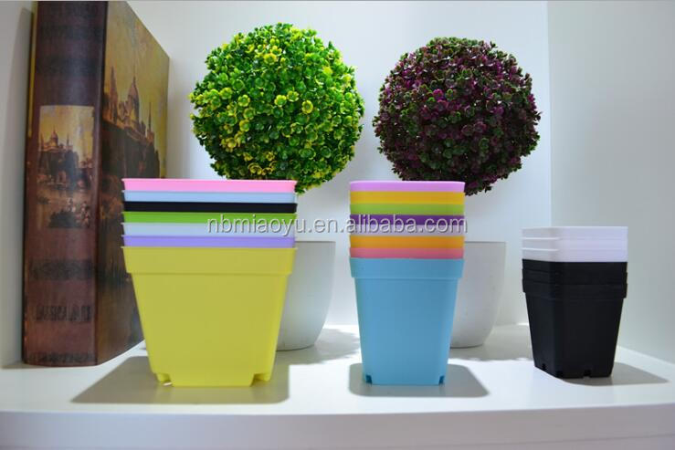 7cm colourful super thicker colourful small plastic planter for succulent plants and nursery and seed