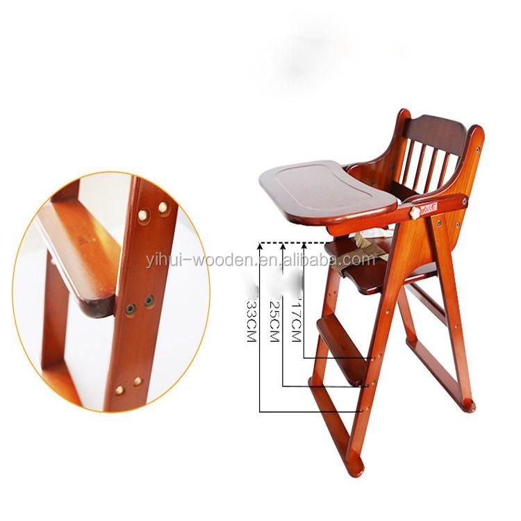 Handig grenen paulownia houten kinderstoel baby diner stoel en tafel babyvoeding zetel - Vat stoel ...
