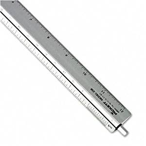 "Chartpak : Adjustable Triangular Scale Aluminum Architects Ruler, 12"", Silver -:- Sold as 2 Packs of - 1 - / - Total of 2 Each"