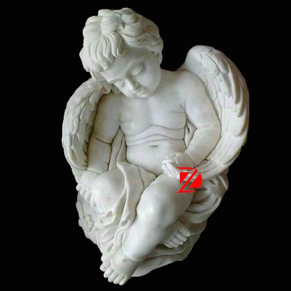 Stone Sleeping Cherub Angel Statues