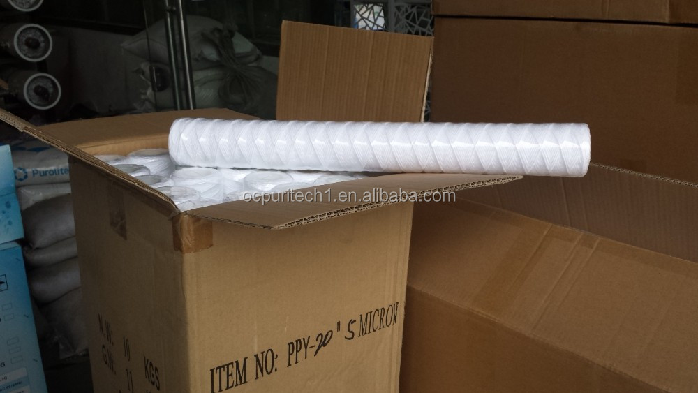 40 inch 5 micron woven pp sediment  water  filter cartridge