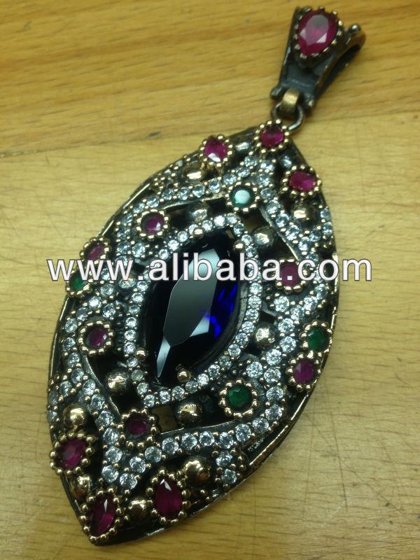 Turkish Ottoman Jewelry 1 Pound 925 Silver = $475 Antique Rings Pendants  Earrings Set Grand Bazaar Best Deals Istanbul Turkey - Buy Turkish Jewelry