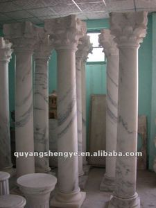 White Marble Solid Column Pillar