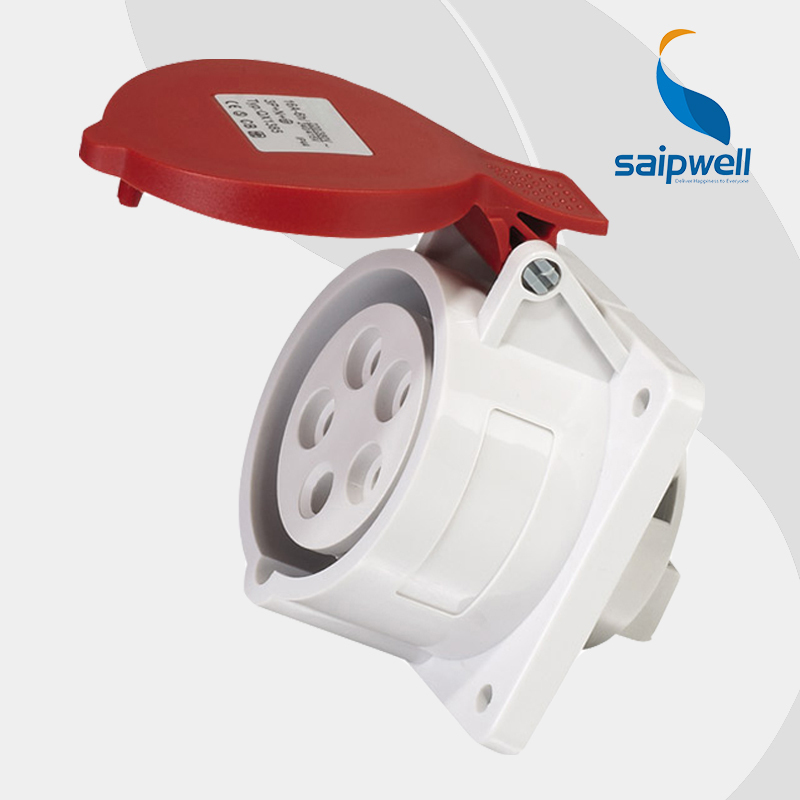 Wholesale Saipwell SP1385 IP44 5P 16A 220-250V electric cee industrial plug panel socket made in china extension socket
