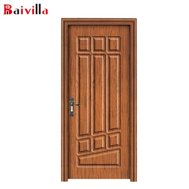 Cheap Indoor HDF Molded Door And Cheap Interior Doors Compound Solid Wood  Door