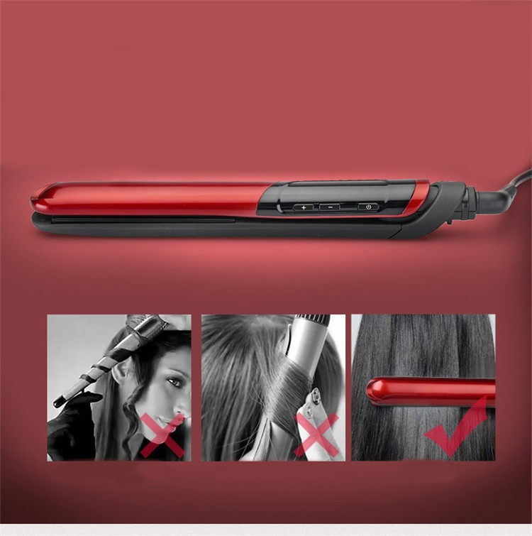 CE ROHS Certificates Salon use 450F Titanium Plate Custom Flat Irons with Private Label