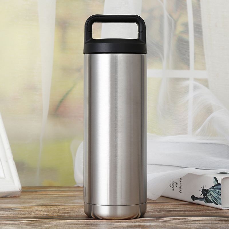 18oz glass drinking water bottle Vacuum Insulated Stainless Steel Bottle with Cap