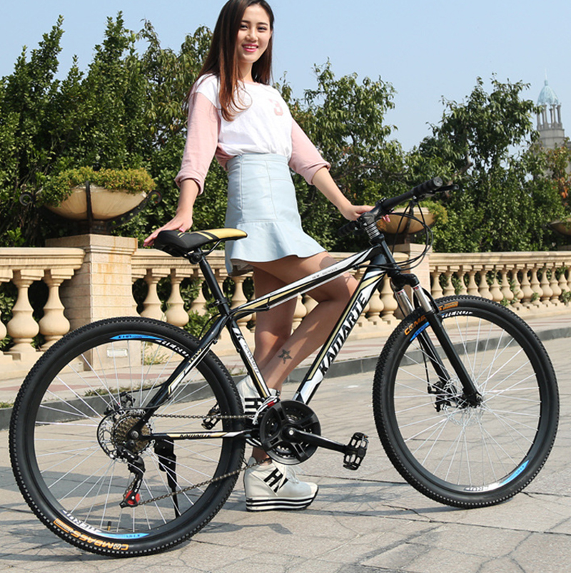 24 /26 Inch Bicycle Spoke Wheel Variable Speed Double Disc Brakes Mountain Bikes Student Cycling Road Bike Chinese Carbon Road B