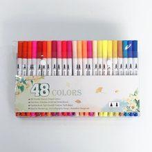 Двойные художественные маркеры 100 цветов, ручка с тонким наконечником и наконечником кисти, отлично подходит для книжных раскрасок для взро...(Китай)