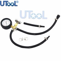 Quick Connected Fuel pressure gauge Fuel Injection Pump Pressure Tester Gauge With Valve 0 ~ 100PSI