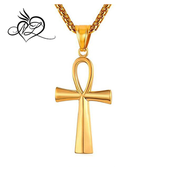 New hot life cross necklace stainless steel vintage egyptian men new hot life cross necklace stainless steel vintage egyptian men jewelry gold plated the key of aloadofball Gallery