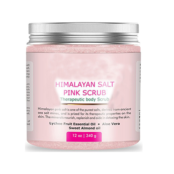 himalayan salt spa body scrub with private label