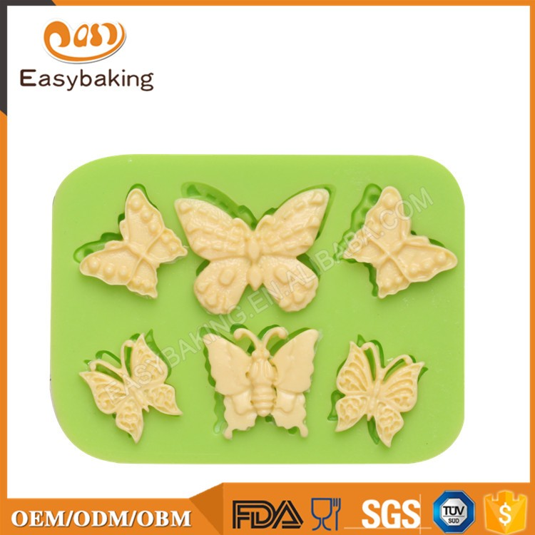 ES-0206 Butterflies Series Silicone Molds Fondant Mould for cake decorating