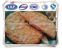 Frozen fried surimi cake with vegetable