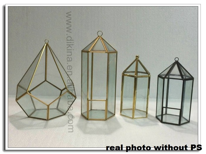 Unique Mirrored Vintage Glass Terrarium Indoor Greenhouse Small