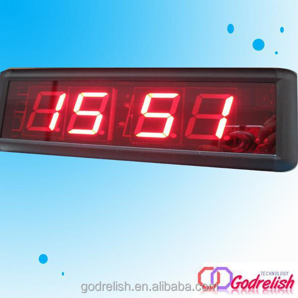 Professional operation led clock display with low price