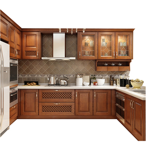 2018 factory pecan mahogany wood solid wood walnut kitchen cabinets