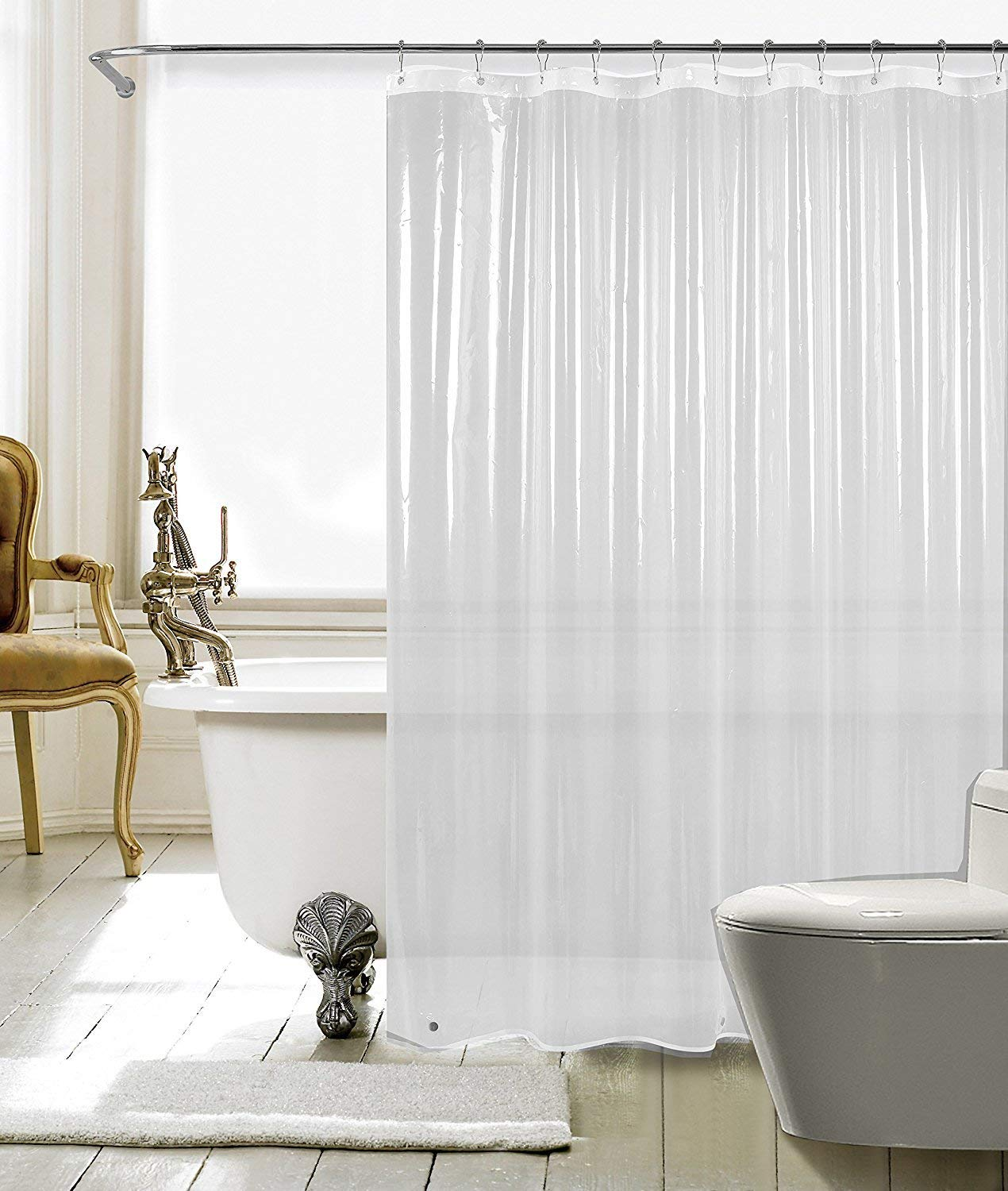 Get Quotations Fitnate Resistant Anti Bacterial PEVA Shower Curtain Liner 72x72 Clear015 MM
