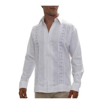 e40172b42 Custom Lino guayabera Camisas de los hombres 100% camisas de lino lino color