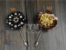 Top Design Big Flower Brooches With Crystal