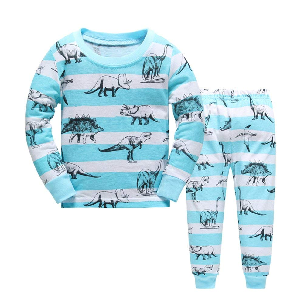 Grsafety Baby Pyjama Cotton Toddler Boys Kids Mermaid Sleepwear Nightwear Pajamas Set 2-7 Years