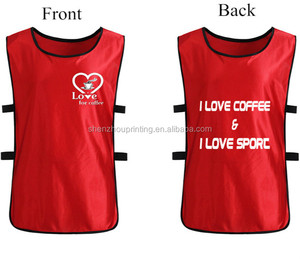 Factory directly sale custom logo design reversible sportswear mesh soccer wear training sports bibs