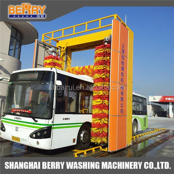 Nice Soft Brushes Automatic Bus Washing Machine And Bus