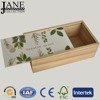 Customized unfinished cheap sliding wooden wine boxes/wooden box wine