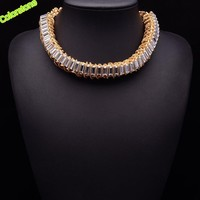 2014 gold silver color necklaces & pendants fashion brand vintage costume choker Necklace statement jewelry women