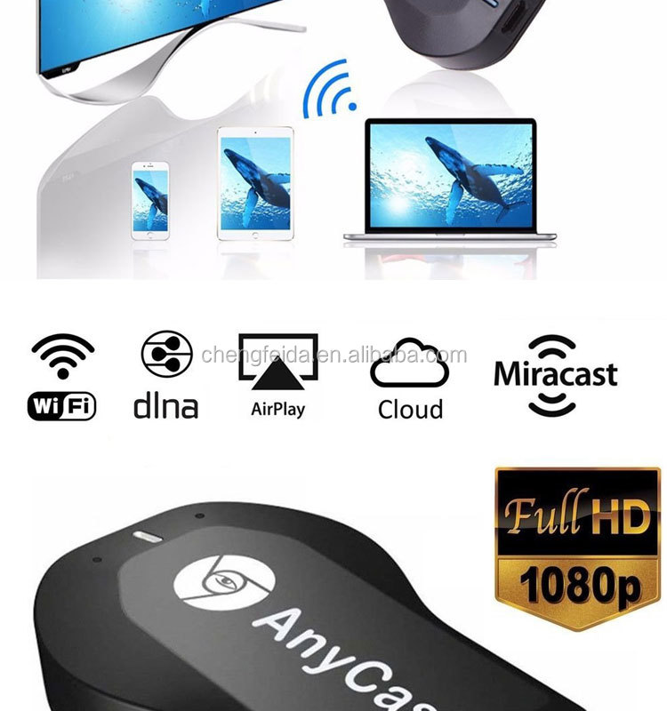 Anycast M2 Più Miracast Airplay DLNA WiFi Display DongleApk-Trasporto Anycast M2 Plus per android