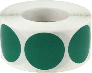 OEM Color Coding Labels Green Round Circle Dots Adhesive Stickers For Organizing 500 Total