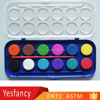 new style watercolor paint set with brush powder water color paint