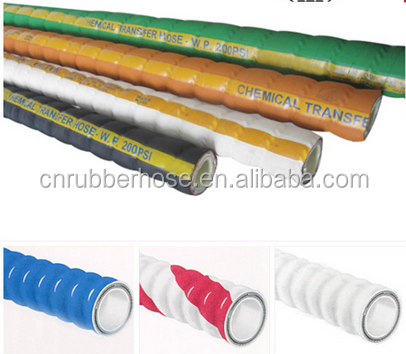 4inch Flexible chemical suction and discharge hose 15bar/ 200psi