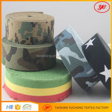 customized polyester webbing cotton webbing belt for military belt