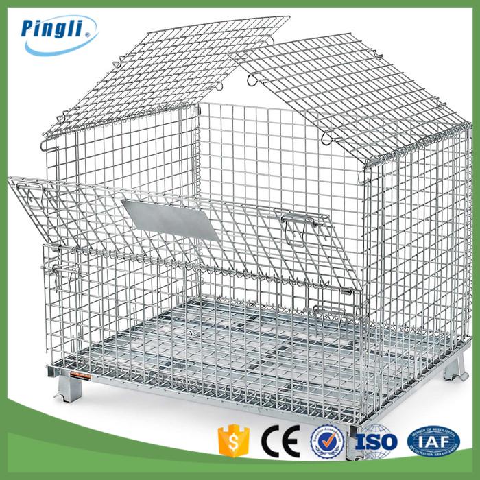 Contenedor de malla de alambre galvanizado plegable m vil - Malla alambre galvanizado ...