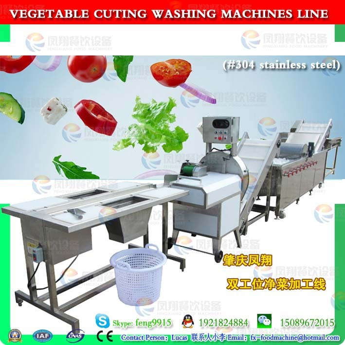 WAFC-2000 Horizontal mixed flow spray washing machine/vegetable washing line/salad vegetable /IQF