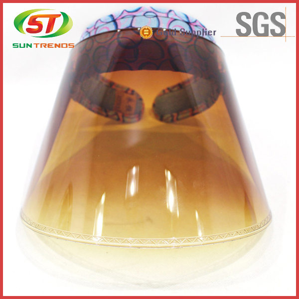 Hot Sale Customized Logo Plastic Clear View Cheap Sun Visor Hat