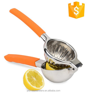 Eco-friendly FDA Stainless Steel Metal Lemon Lime Squeezer For Fruit and Vegetable Tools