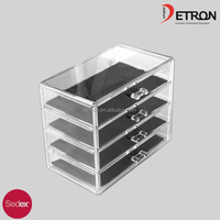 Customized clear acrylic jewelry display case,acrylic cosmetic showcase